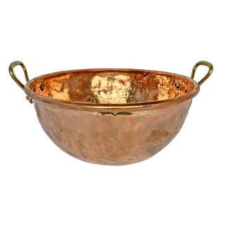 Large French Copper Confectioner's Pot For Sale