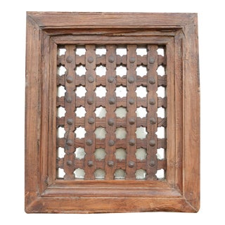 18th Century Moorish Carved Window Mirror For Sale