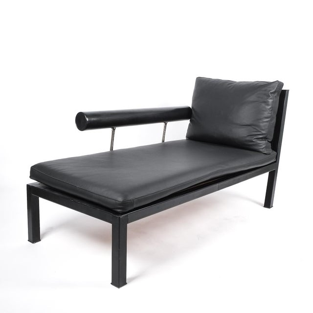 Modern Leather Chaise Lounge Baisity by Antonio Citterio for B&b Italy For Sale - Image 3 of 8