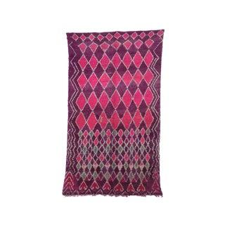 """Boujad Vintage Moroccan Rug, 6'7"""" X 10'4"""" Feet"""