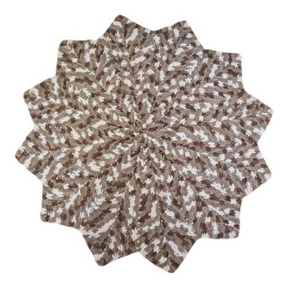 Extra Soft Hand Crocheted Heavyweight Circular Throw