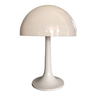 Vintage White Mushroom Lamp For Sale