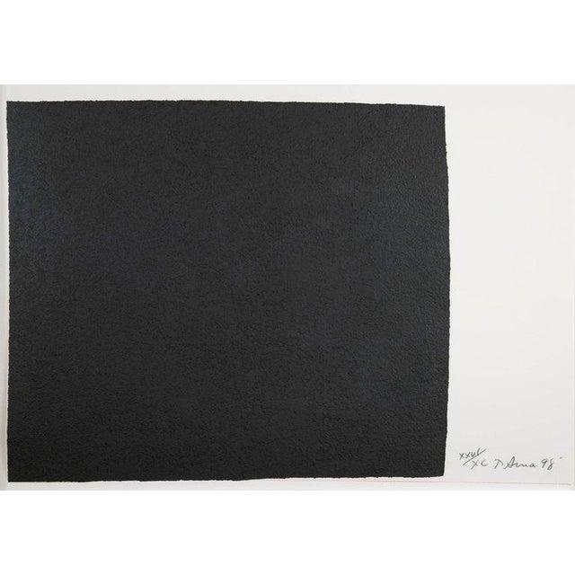 "Richard Serra Work on Paper ""Leo"", From ""Leo Castelli 90th Birthday Portfolio"" For Sale - Image 9 of 10"