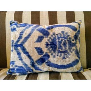 Silk Velvet Ikat Pillow Preview