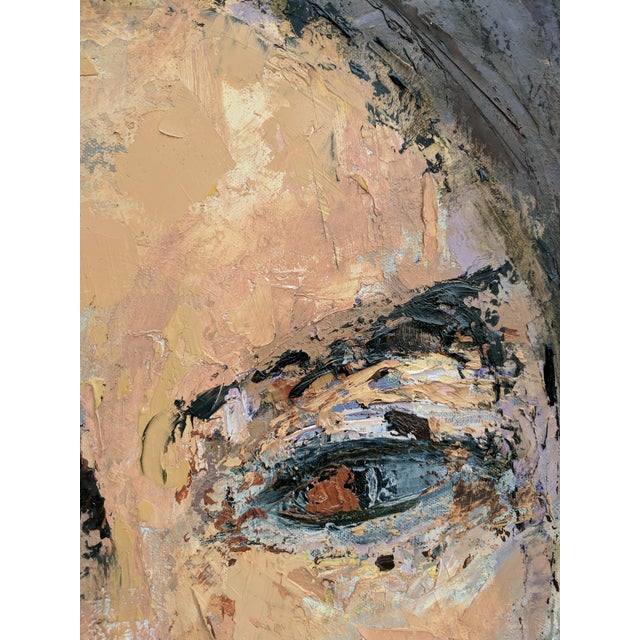 Early 21st Century Impressionist Oil Portrait Painting of Woman For Sale - Image 5 of 11