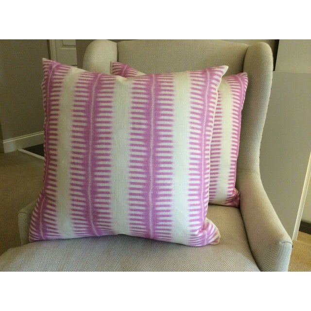 Contemporary C & C Milano Zip-Zip Orchid Down Pillows - a Pair For Sale - Image 3 of 4
