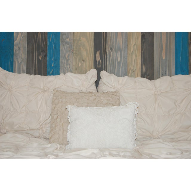 Twin Hanger Barn Walls Headboard in a Winter MIX Design - Image 4 of 6