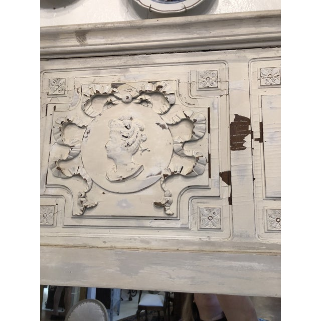 Late 19th Century Antique French Trumeau Mirror For Sale - Image 5 of 13
