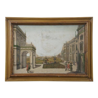 18th Century Venice Hand Colored Copper Plate Engraving by Francois Xav Habermann For Sale