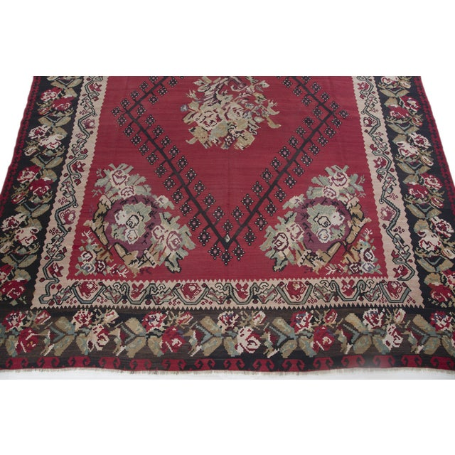 "Anatolia Turkish Kilim Large Rug - 9'6"" X 10'8"" - Image 6 of 10"