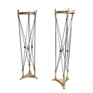Hollywood Regency Planter Stand - A Pair