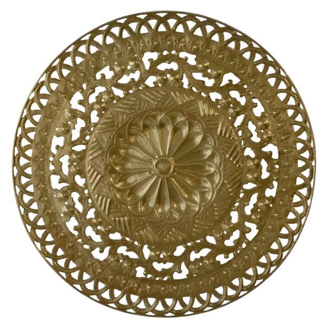 Italian Pierced Flower Brass Metal Wall Art - Image 1 of 7