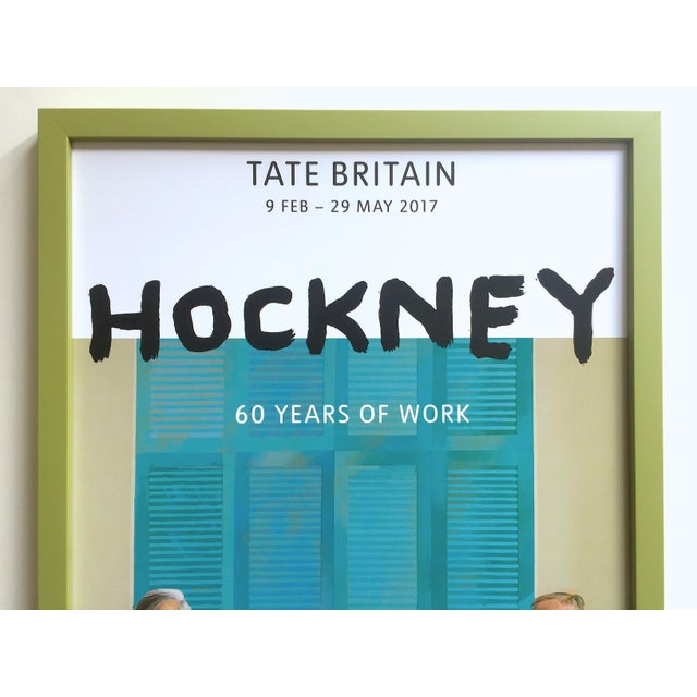 This David Hockney rare lithograph print Tate Museum custom framed collector's Pop Art exhibition poster is an incredibly...