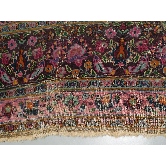 "1920s Handwoven Kerman Rug 13' 2"" X 10' 4"" For Sale - Image 10 of 13"