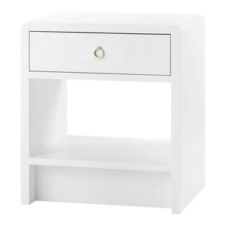 Bungalow 5 Benjamin 1-Drawer Side Table, White Lacquered Wood For Sale