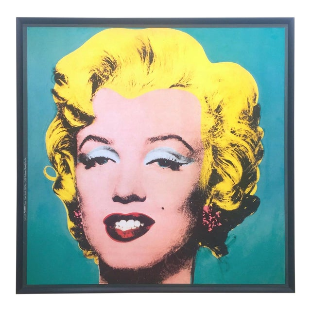 "Andy Warhol Vintage 1988 Lithograph Print Framed Pop Art Poster "" Marilyn "" 1964 For Sale"