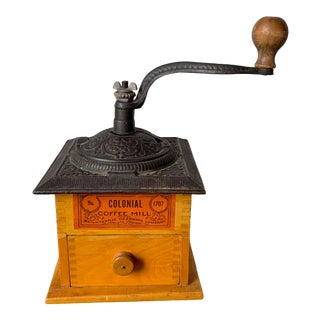 Vintage Colonial Coffee Mill 1707 Coffee Grinder For Sale