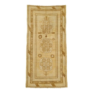 """20th Century Chinese Khotan Rug - 4'6"""" X 9'1"""" For Sale"""