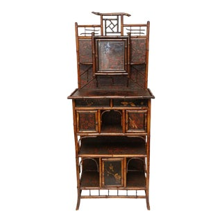 English 19th Century English Bamboo Cabinet For Sale