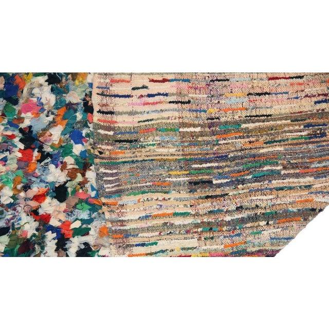 Vintage Boucherouite Carpet - 4′7″ × 6′5″ - Image 3 of 3