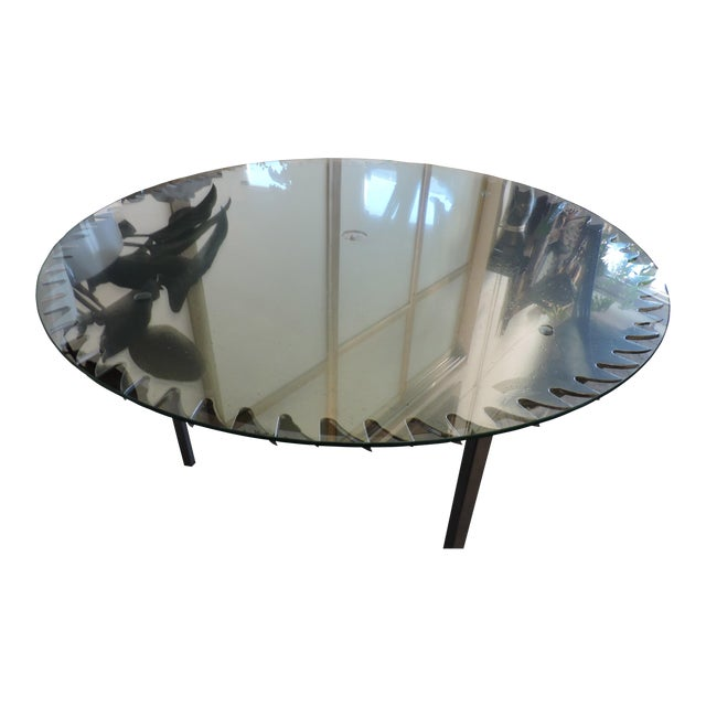 Glass Topped Saw Table For Sale