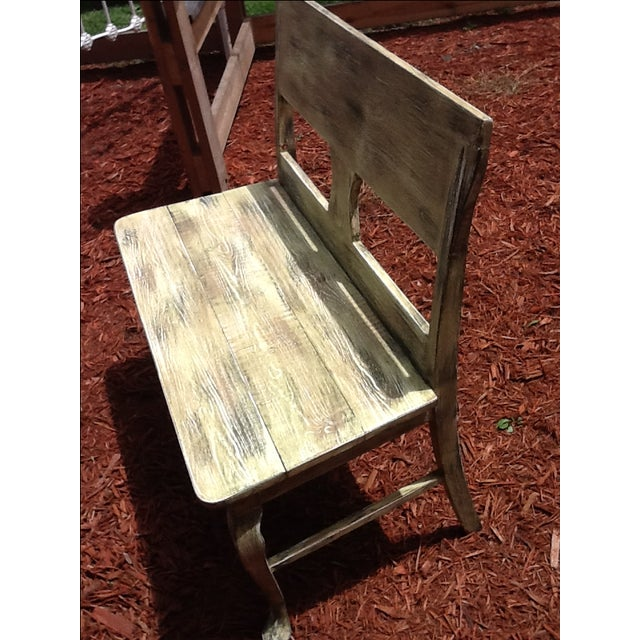 Rustic Distressed Bench - Image 6 of 6