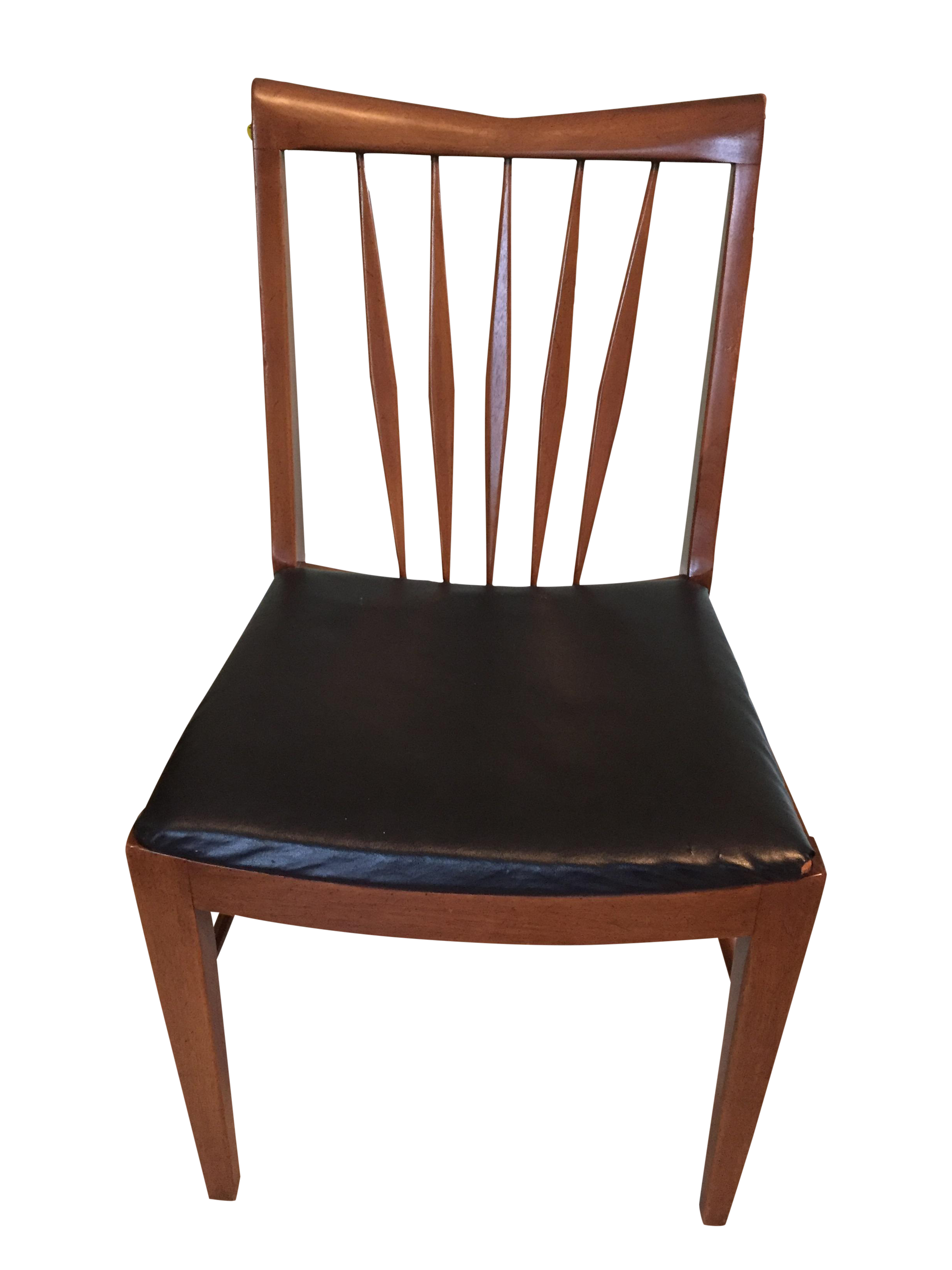 John A. Colby U0026 Sons Mid Century Modern Walnut Desk Chair   Image 1