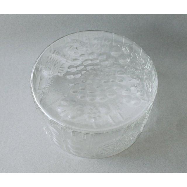 Nuutajarvi Finland Flora Large Glass Bowl Vase Oiva Toikka Chairish