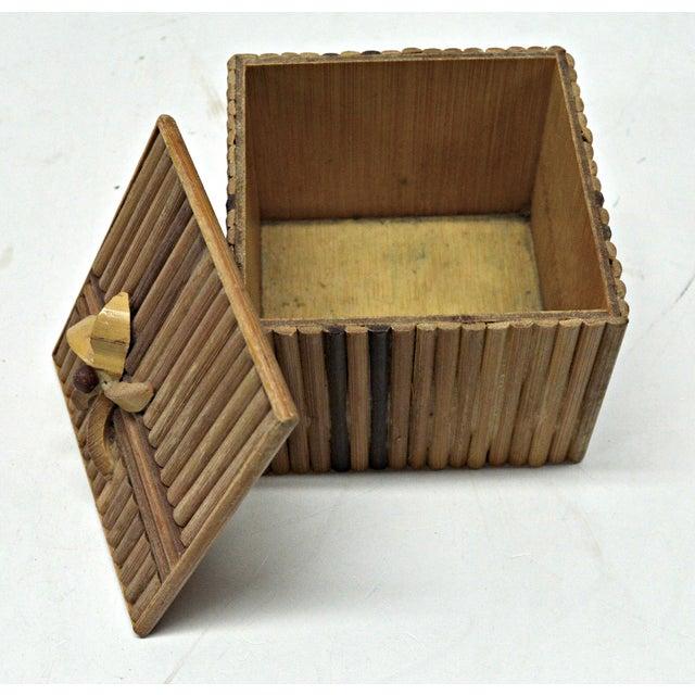 Rustic Wooden Stick Cigarette Box - Image 3 of 9