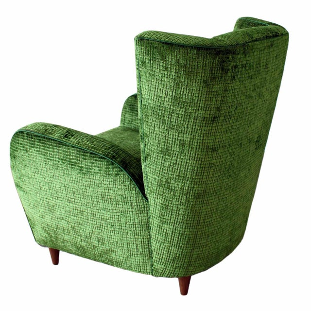 Upholstered Wingback Club Chairs - A Pair - Image 3 of 7