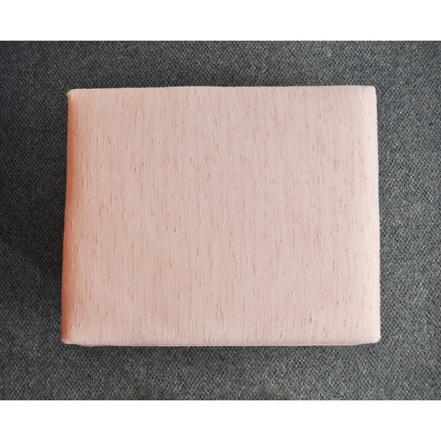 Blush Pink Upholstered Ottoman For Sale In Minneapolis - Image 6 of 9