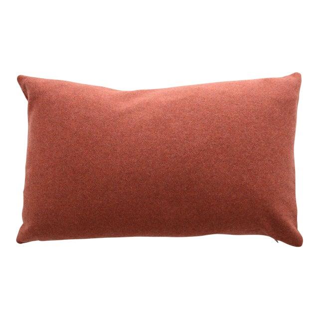 FirmaMenta Italian Orange Sustainable Wool Lumbar Pillow For Sale