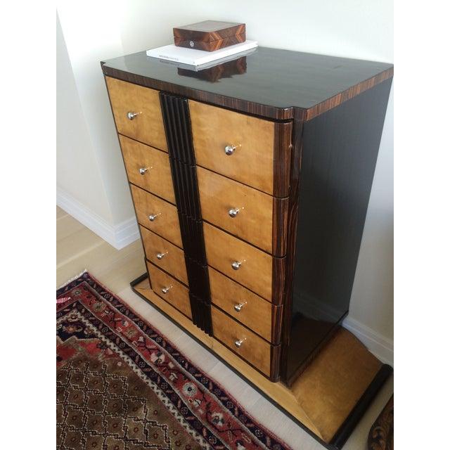 1920s Art Deco Zebra Wood Dresser - Image 4 of 7