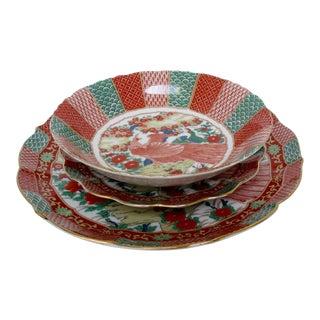Japanese Vintage Plates & Bowls, 8 Pieces