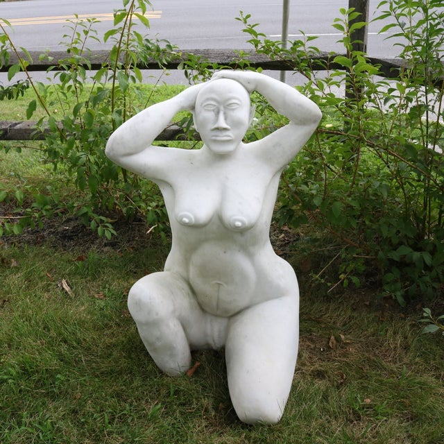 White Marble Nude Sculpture - Image 2 of 11