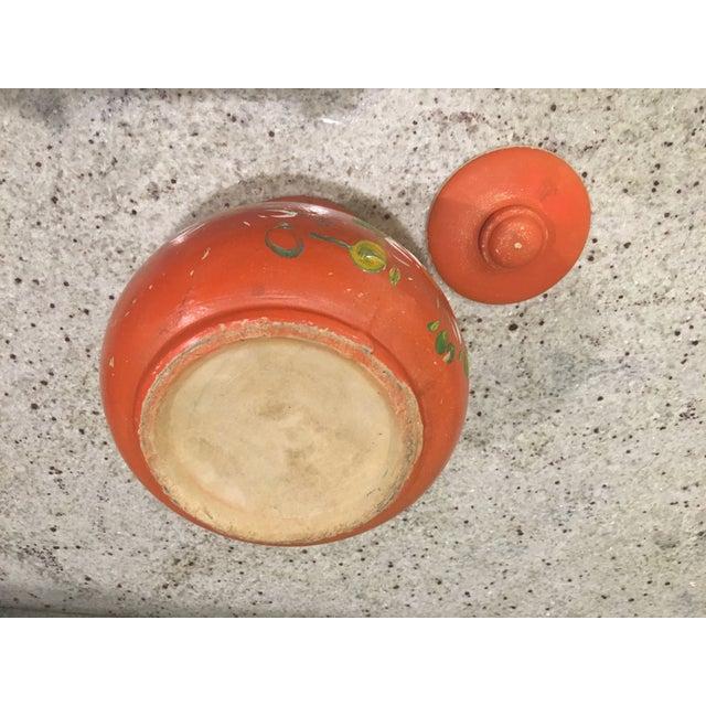 Orange Floral Cookie Jar - Image 8 of 8