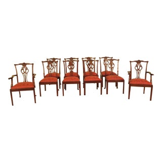 Baker Chippendale Mahogany Dining Room Chairs - Set of 10