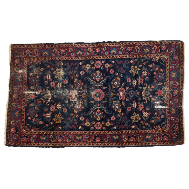 "Vintage Yezd Rug - 2'11"" X 4'10"" For Sale - Image 11 of 11"