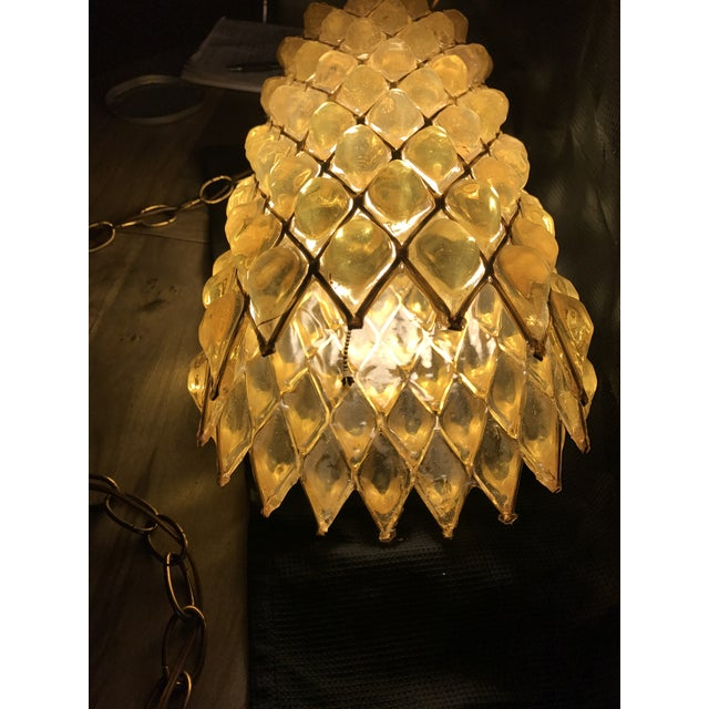 Mid-Century Modern Swag Cylinder Hanging Lamp - Image 4 of 6