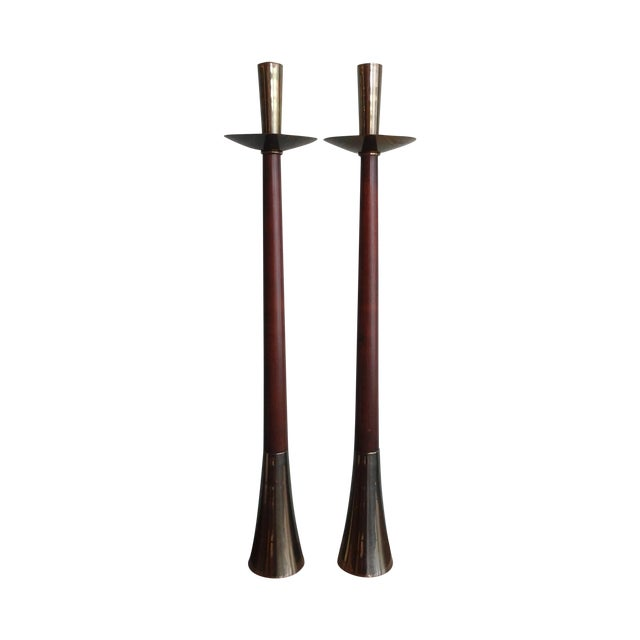 Vintage 60s Mid-Century Modern Tall Candle Holder - Image 1 of 8