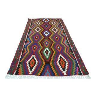 Vintage Turkish Esme Nomads Kilim Flatweave Rug For Sale