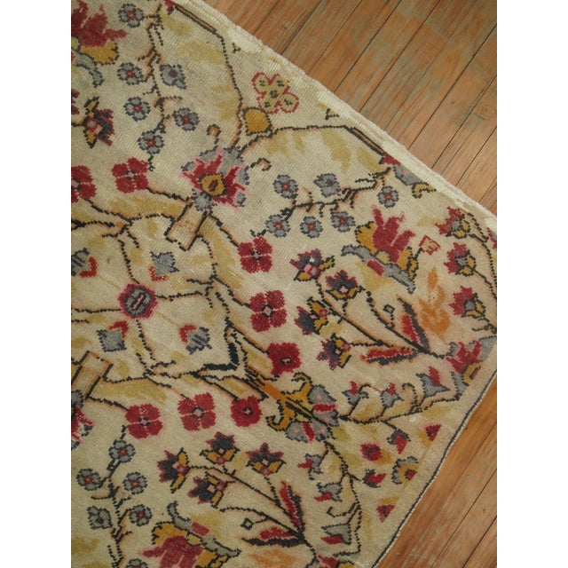 Vintage Turkish Anatolian Rug - 4'3'' X 6'5'' For Sale In New York - Image 6 of 9
