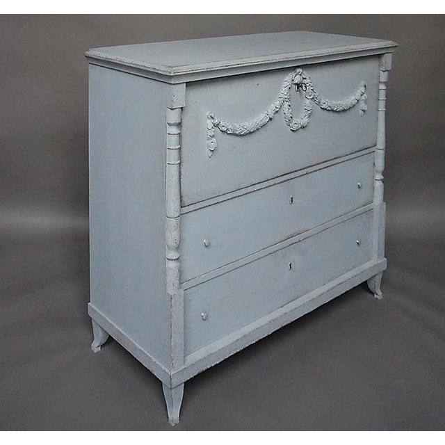 Antique Swedish Chest of Drawers With Classical Swags - Image 3 of 8