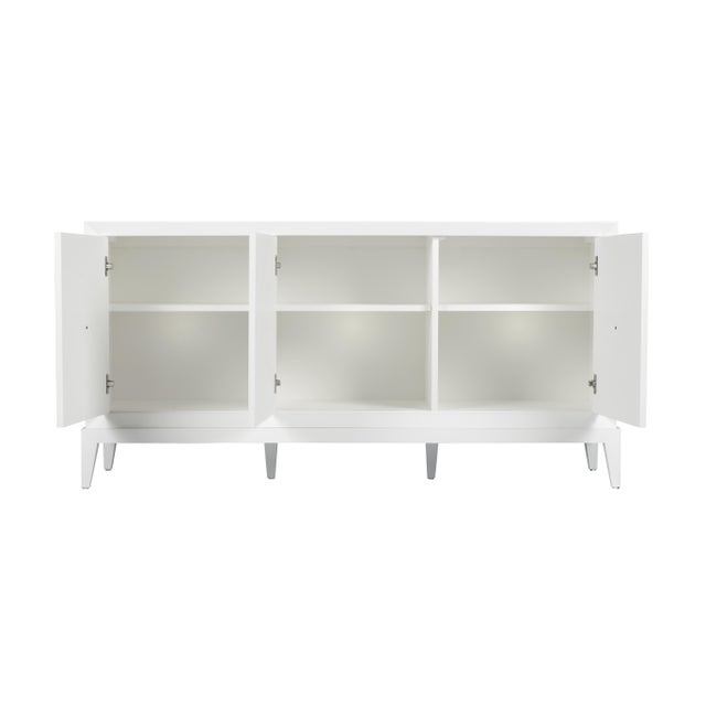 Not Yet Made - Made To Order Casa Cosima Hayes Sideboard, Revere Pewter For Sale - Image 5 of 5