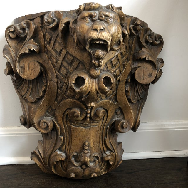 19th Century Carved Architectural Wall Shelf For Sale - Image 10 of 10