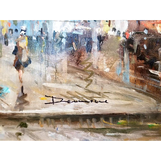Paris Notre Dame Oil Painting on Canvas by Demone For Sale - Image 10 of 11