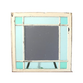 Mirror in Reclaimed Antique Stained Glass Window For Sale