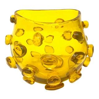 Blenko Blob Vase Mid-Century Art Glass For Sale