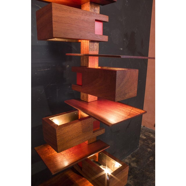Mid-Century Modern Frank Lloyd Wright Style Floor Lamp For Sale - Image 3 of 9