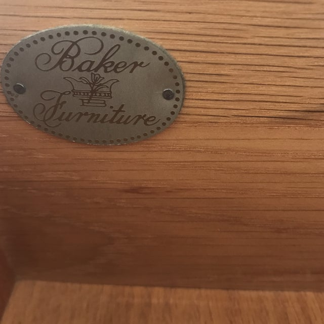 Vintage Baker Dresser With Brass Accents For Sale - Image 9 of 10